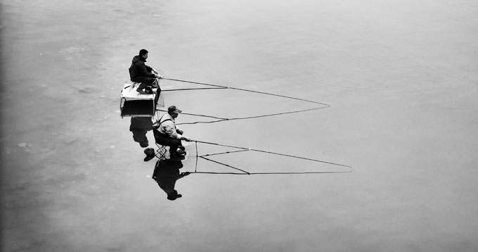 The fishing man / Photo: Peng Zhang
