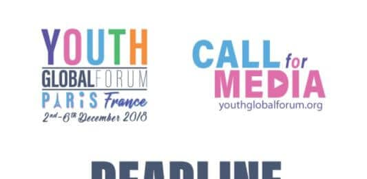 Youth Global Forum in Paris: Call For Journalists and Young Media Enthusiasts