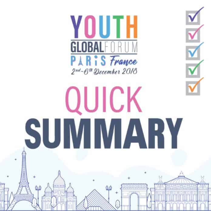 The Tips For Youth Time Global Forum In Paris