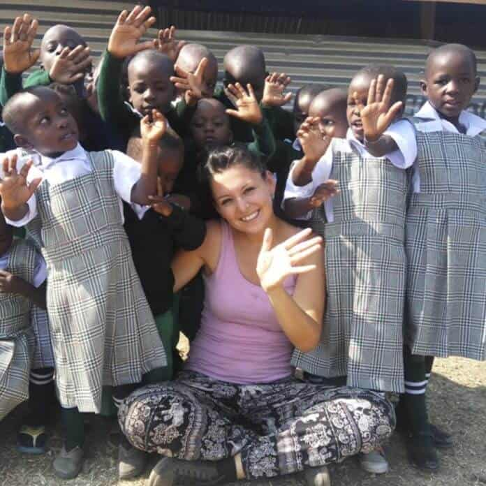 Milica Radovic in Kenya, girl from Serbia