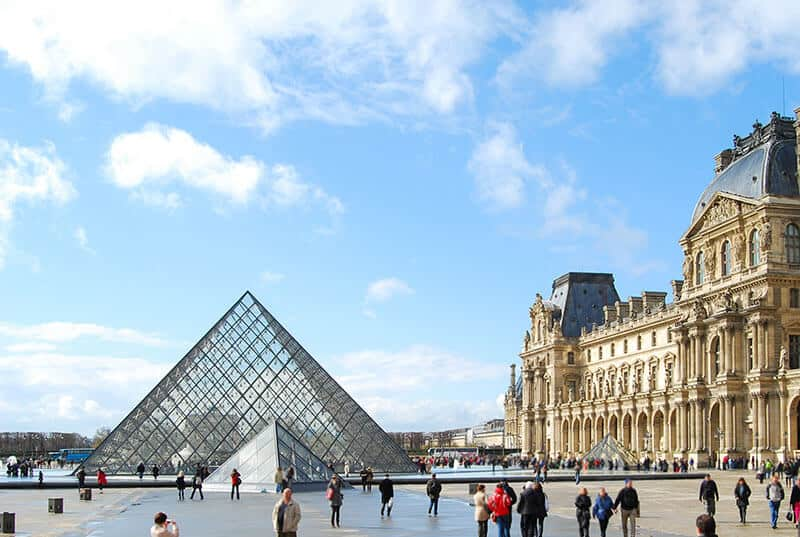 Louvre museum in Paris.