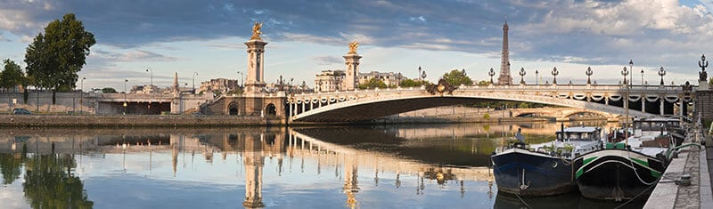 Pont Alexandre III bridge over the river Seine