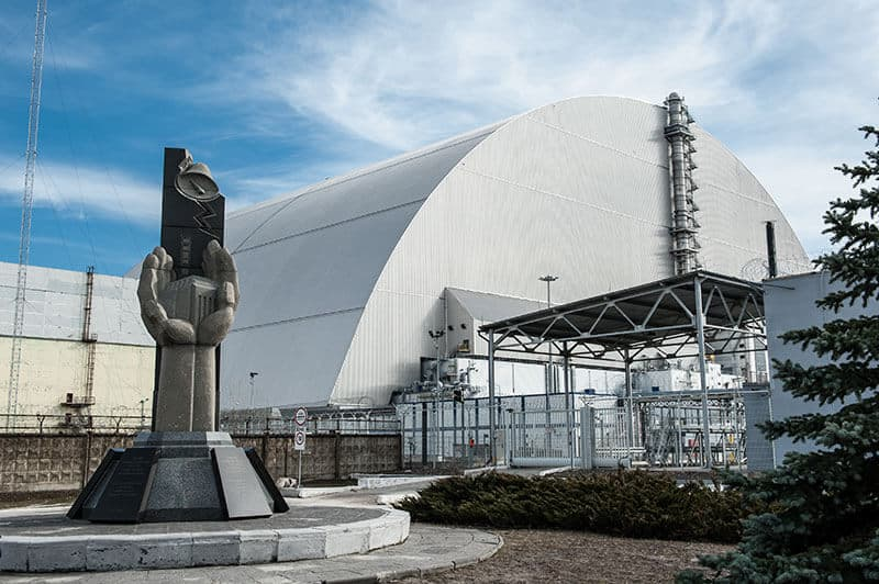 Chernobyl - The new safe confinement reactor 4 - built 2017.