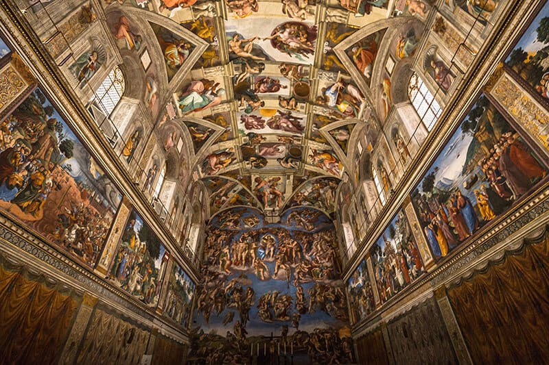 Ceiling of the Sistine chapel in the Vatican Museum, Vatican City