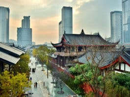 Chengdu, China - Old and New town