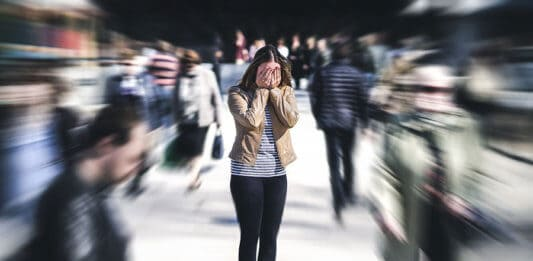 Panic attack in public place