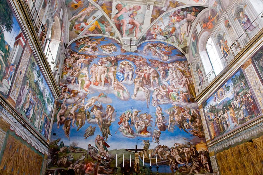 Sistine chapel in the Vatican Museu