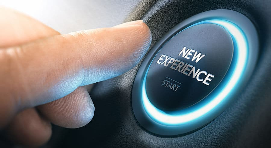 new experience button