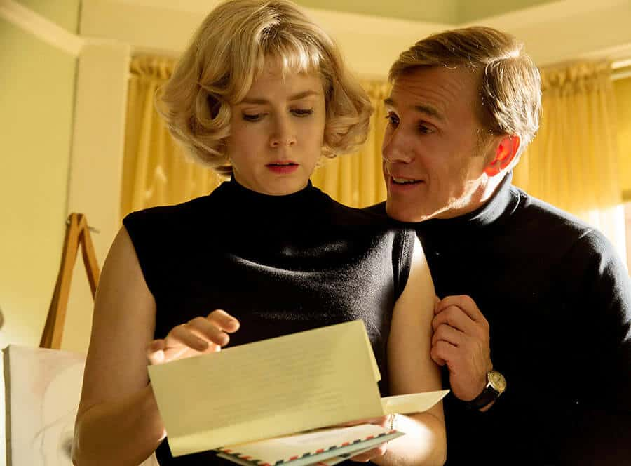Amy Adams and Christoph Waltz as Margaret and Walter