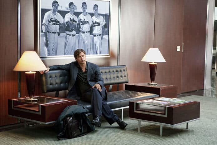 Brad Pitt as Billy Beane in Moneyball