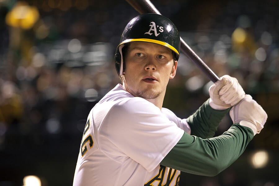 Chris Pratt as Scott Hatteberg in Moneyball