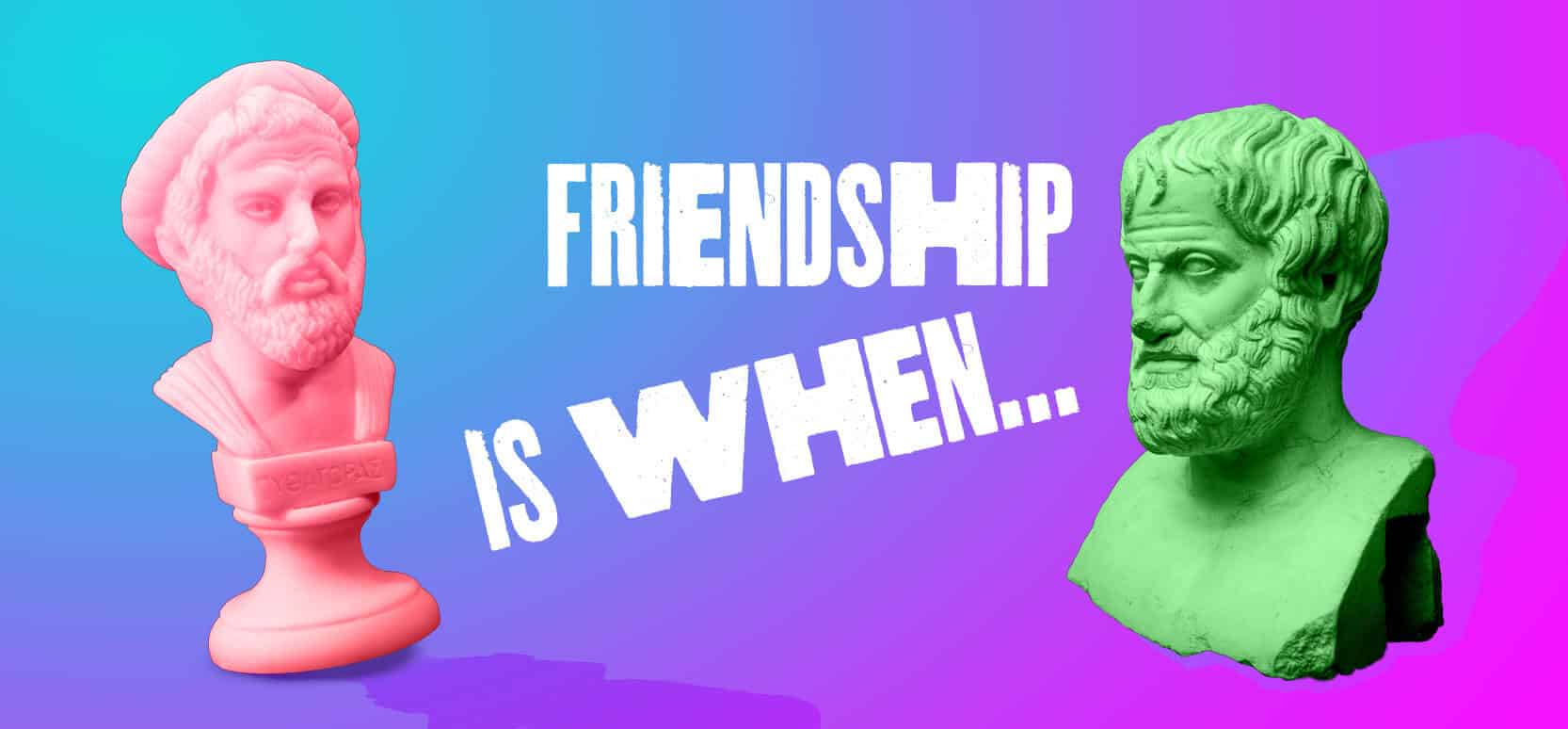 Friendship at the times of Aristotle banner