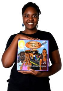 Mijide Kemoli with her board game
