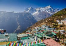 Namche Bazar Khumbu district Himalayas Nepal
