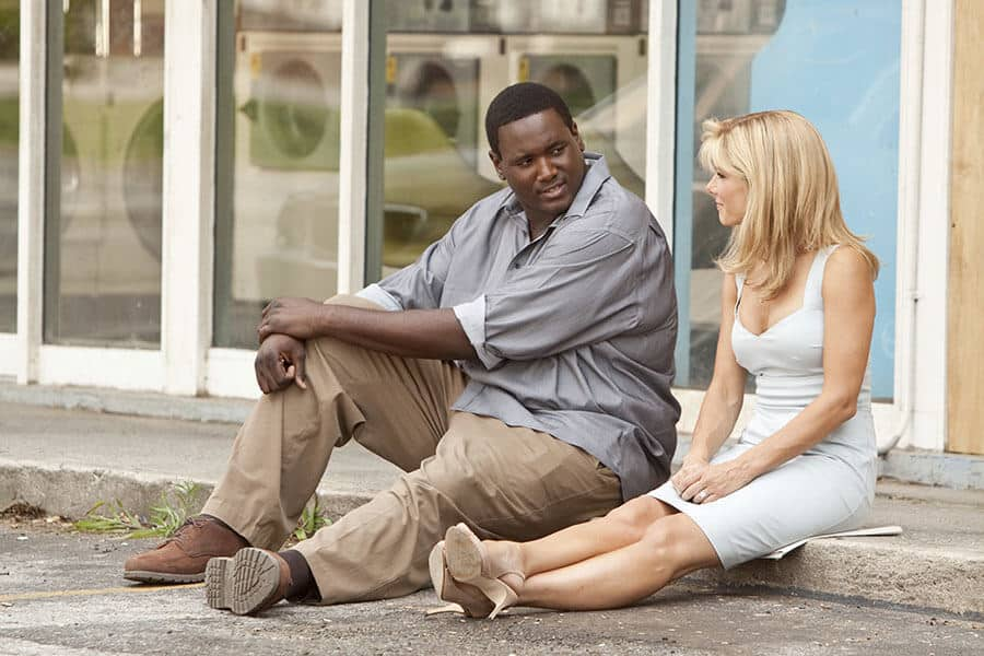 Sandra Bullock and Quinton Aaron in the movie The Blind Side