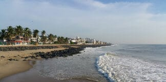 A beautiful pondicherry coast