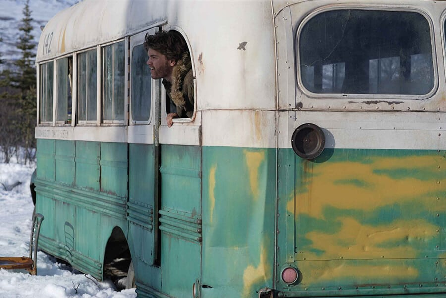 Emile Hirsch as Christopher McCandless in the film Into the Wild
