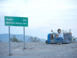 Emile Hirsch in the film Into the Wild