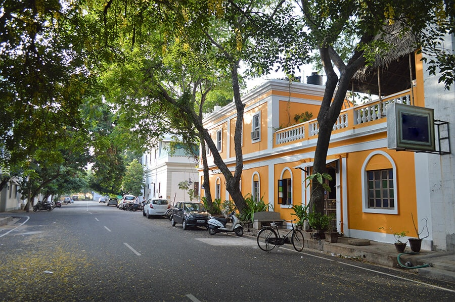 French quarters architecture Pondicherry India