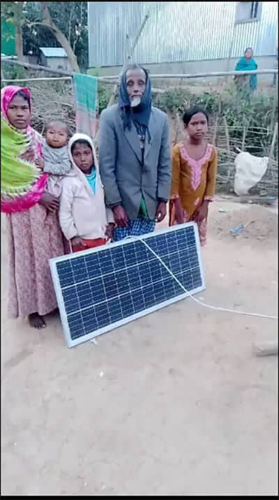 Solar panel brings a new lifestyle to the family