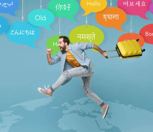 Teaching Languages While Traveling concept
