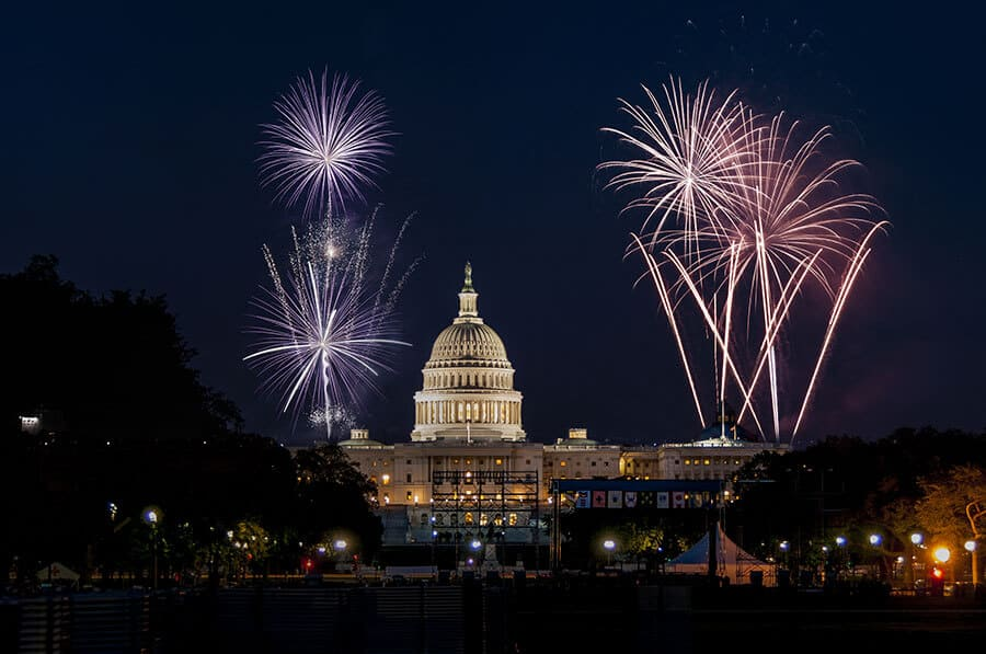US Capitol in Washington 4th of July