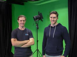 Brennan Hatton and Rick Martin at Greenscreen Room