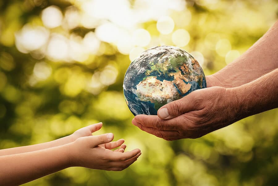Handing over the planet between generations