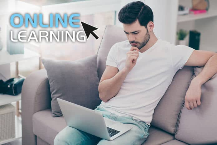 Online course studying at home