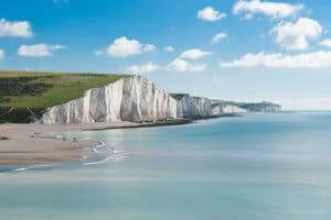 Seven Sisters National park white cliffs East Sussex England