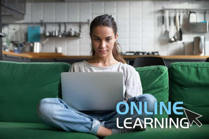 Studying home an online course