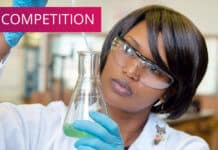 Female researcher in the laboratory