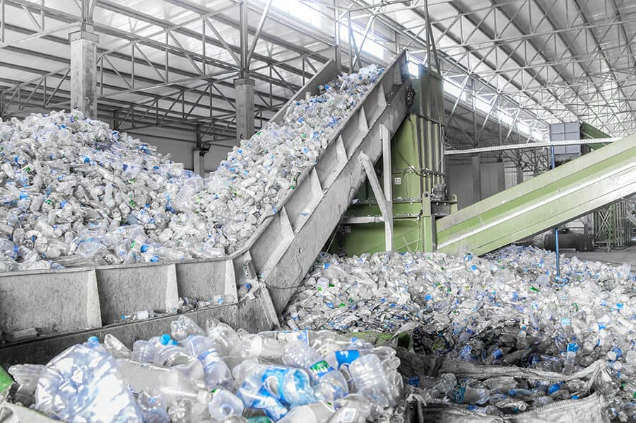 Plastic ready for processing and recycling