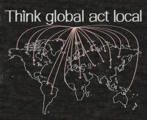 """Business perception of the quote: """"Think global act local"""""""