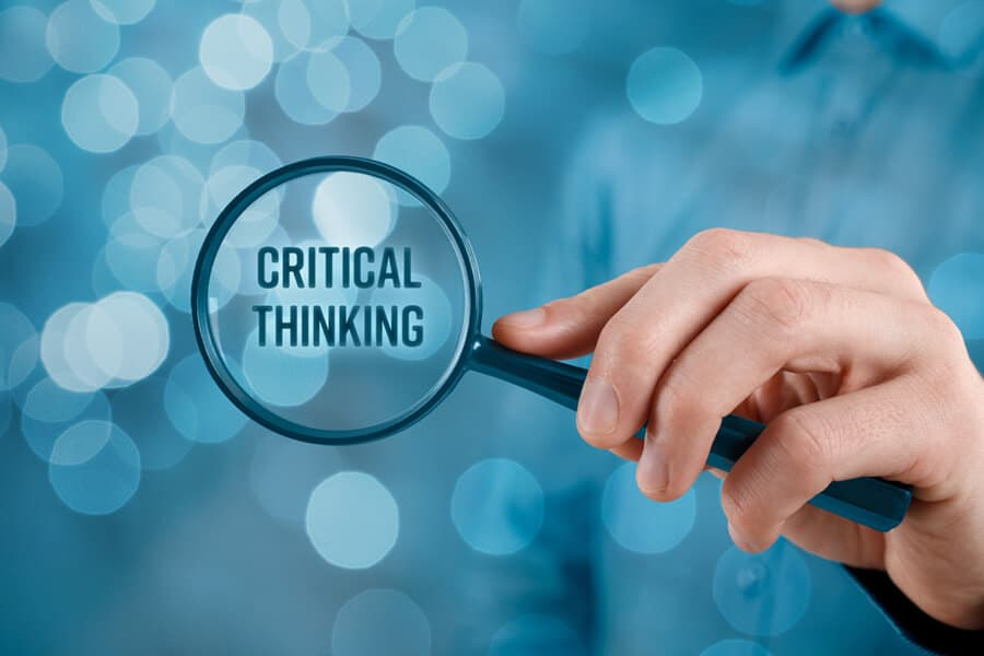 The necessity of critical thinking is not less important