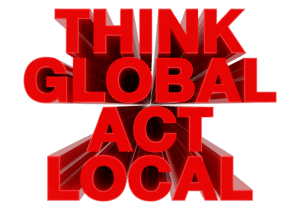 Think global act local conclusion
