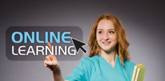 Young medic Online courses concept