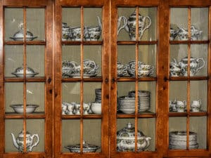 An old antique china cabinet