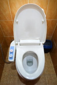Japanese high tech modern toilet
