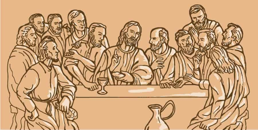 Judas in depiction as a 13th and unwanted guest by the table Converted 01