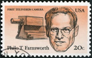 Philo Taylor Farnsworth American Inventors of first television camera