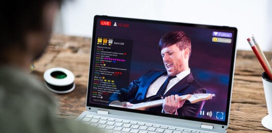 Streaming Live Music Video With Singer