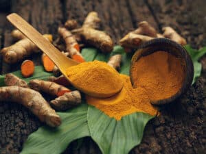 Turmeric powder and fresh turmeric