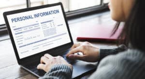 Filling form with personal information