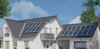 Solar energy system with photovoltaic solar cell panels