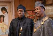 Arsenio Hall as Semmi and Eddie Murphy as Prince Akeem in Coming 2 America / Photo: Moviestillsdb