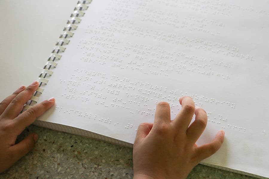 Braille tactile writing system invented by Louis Braille
