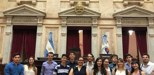Dylan Bokler and his colleagues visiting The Argentinian National Congress