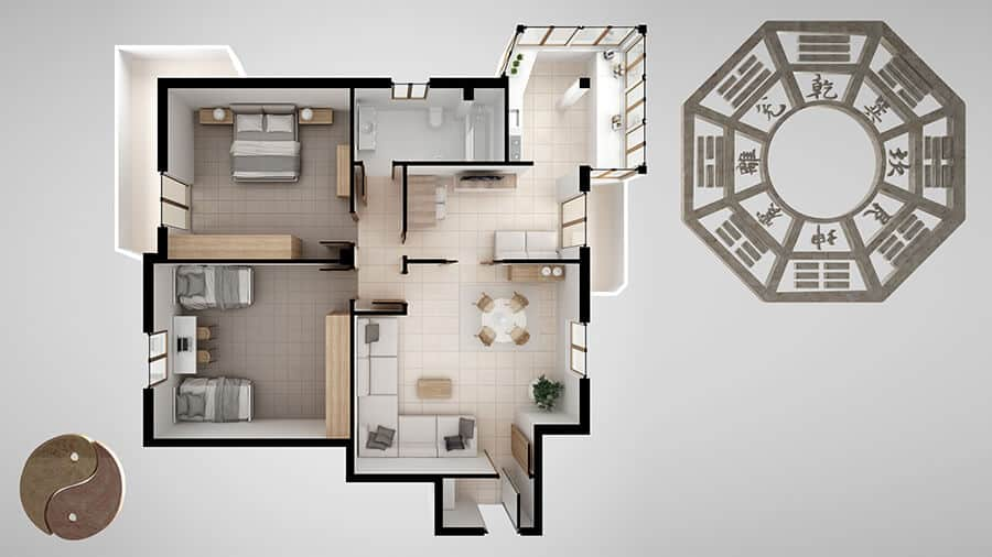 Interior design project with feng shui consultancy