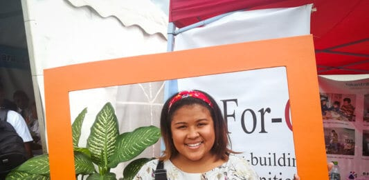 """Mia is part of Youth Network called """"Tanora Iray"""" advocating for sexual and reproductive health rights"""